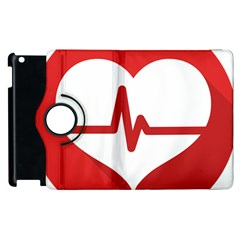 Cardiologist Hypertension Rheumatology Specialists Heart Rate Red Love Apple Ipad 2 Flip 360 Case by Mariart