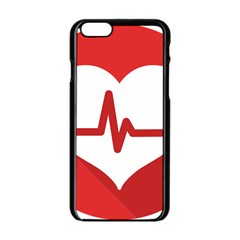 Cardiologist Hypertension Rheumatology Specialists Heart Rate Red Love Apple Iphone 6/6s Black Enamel Case by Mariart