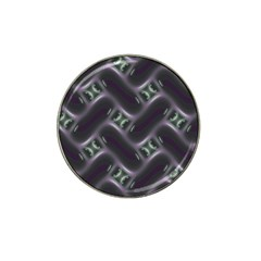 Closeup Purple Line Hat Clip Ball Marker by Mariart