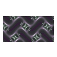 Closeup Purple Line Satin Wrap by Mariart