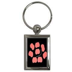 Craft Pink Black Polka Spot Key Chains (rectangle)  by Mariart