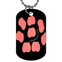 Craft Pink Black Polka Spot Dog Tag (two Sides) by Mariart