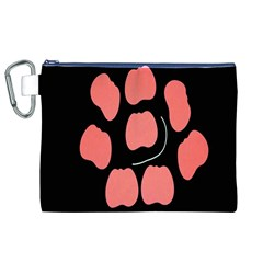 Craft Pink Black Polka Spot Canvas Cosmetic Bag (xl) by Mariart