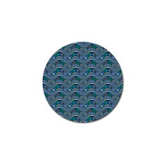 Boomarang Pattern Wave Waves Chevron Green Line Golf Ball Marker (4 Pack) by Mariart