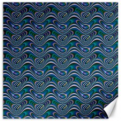 Boomarang Pattern Wave Waves Chevron Green Line Canvas 16  X 16   by Mariart