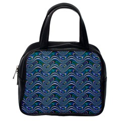 Boomarang Pattern Wave Waves Chevron Green Line Classic Handbags (one Side) by Mariart
