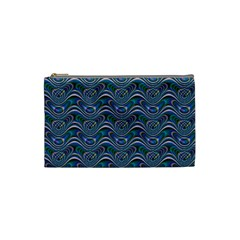 Boomarang Pattern Wave Waves Chevron Green Line Cosmetic Bag (small)  by Mariart