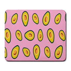 Fruit Avocado Green Pink Yellow Large Mousepads by Mariart