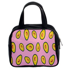 Fruit Avocado Green Pink Yellow Classic Handbags (2 Sides) by Mariart
