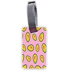 Fruit Avocado Green Pink Yellow Luggage Tags (two Sides) by Mariart