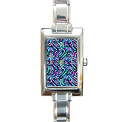 Circle Purple Green Wave Chevron Waves Rectangle Italian Charm Watch by Mariart