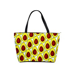 Avocados Seeds Yellow Brown Greeen Shoulder Handbags by Mariart