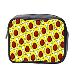 Avocados Seeds Yellow Brown Greeen Mini Toiletries Bag 2 Side by Mariart