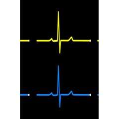 Heart Monitor Screens Pulse Trace Motion Black Blue Yellow Waves 5.5  x 8.5  Notebooks by Mariart