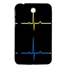 Heart Monitor Screens Pulse Trace Motion Black Blue Yellow Waves Samsung Galaxy Tab 3 (7 ) P3200 Hardshell Case  by Mariart