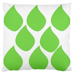 Green Water Rain Standard Flano Cushion Case (one Side) by Mariart