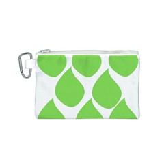 Green Water Rain Canvas Cosmetic Bag (s) by Mariart