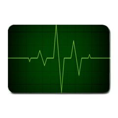 Heart Rate Green Line Light Healty Plate Mats by Mariart