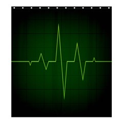 Heart Rate Green Line Light Healty Shower Curtain 66  X 72  (large)  by Mariart