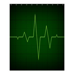 Heart Rate Green Line Light Healty Shower Curtain 60  X 72  (medium)  by Mariart