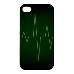 Heart Rate Green Line Light Healty Apple Iphone 4/4s Hardshell Case by Mariart