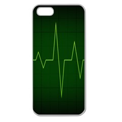 Heart Rate Green Line Light Healty Apple Seamless Iphone 5 Case (clear) by Mariart