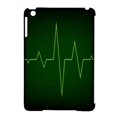 Heart Rate Green Line Light Healty Apple Ipad Mini Hardshell Case (compatible With Smart Cover) by Mariart