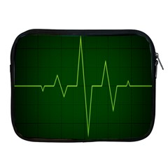 Heart Rate Green Line Light Healty Apple Ipad 2/3/4 Zipper Cases by Mariart