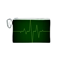 Heart Rate Green Line Light Healty Canvas Cosmetic Bag (s) by Mariart