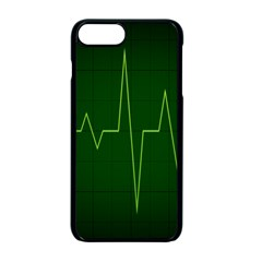 Heart Rate Green Line Light Healty Apple Iphone 7 Plus Seamless Case (black) by Mariart