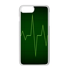 Heart Rate Green Line Light Healty Apple Iphone 7 Plus White Seamless Case by Mariart