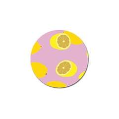 Fruit Lemons Orange Purple Golf Ball Marker by Mariart