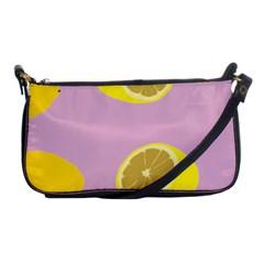 Fruit Lemons Orange Purple Shoulder Clutch Bags by Mariart