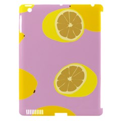 Fruit Lemons Orange Purple Apple Ipad 3/4 Hardshell Case (compatible With Smart Cover) by Mariart