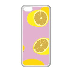 Fruit Lemons Orange Purple Apple Iphone 5c Seamless Case (white) by Mariart