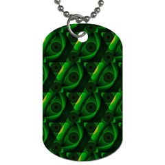 Green Eye Line Triangle Poljka Dog Tag (two Sides) by Mariart