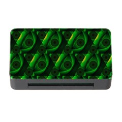 Green Eye Line Triangle Poljka Memory Card Reader With Cf by Mariart