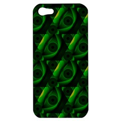 Green Eye Line Triangle Poljka Apple Iphone 5 Hardshell Case by Mariart