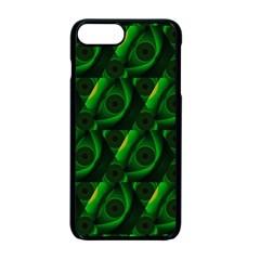 Green Eye Line Triangle Poljka Apple Iphone 7 Plus Seamless Case (black) by Mariart