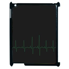Heart Rate Line Green Black Wave Chevron Waves Apple Ipad 2 Case (black) by Mariart