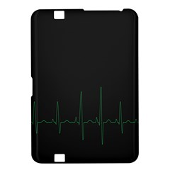Heart Rate Line Green Black Wave Chevron Waves Kindle Fire Hd 8 9  by Mariart