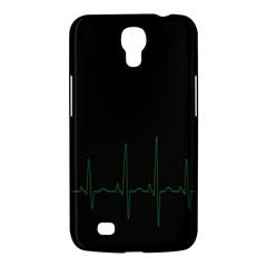 Heart Rate Line Green Black Wave Chevron Waves Samsung Galaxy Mega 6 3  I9200 Hardshell Case by Mariart