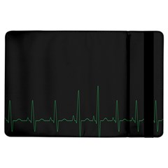 Heart Rate Line Green Black Wave Chevron Waves Ipad Air Flip by Mariart