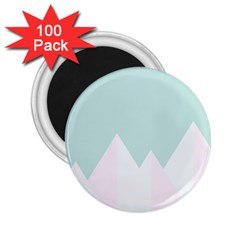 Montain Blue Snow Chevron Wave Pink 2 25  Magnets (100 Pack)  by Mariart