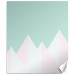 Montain Blue Snow Chevron Wave Pink Canvas 20  X 24   by Mariart