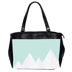 Montain Blue Snow Chevron Wave Pink Office Handbags (2 Sides)  by Mariart