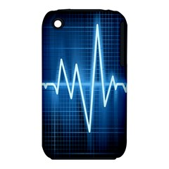 Heart Monitoring Rate Line Waves Wave Chevron Blue iPhone 3S/3GS