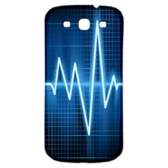 Heart Monitoring Rate Line Waves Wave Chevron Blue Samsung Galaxy S3 S Iii Classic Hardshell Back Case by Mariart