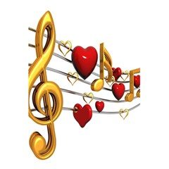 Music Notes Heart Beat 5 5  X 8 5  Notebooks by Mariart