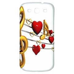 Music Notes Heart Beat Samsung Galaxy S3 S Iii Classic Hardshell Back Case by Mariart